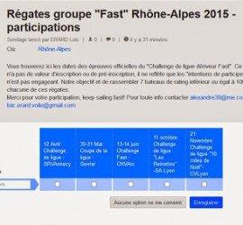 Édition des dates du Challenge Skiff et Deriveur Fast de Ligue Rhône-Alpes …