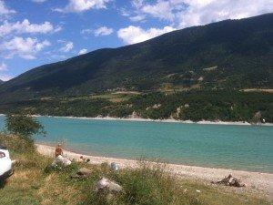 Lac du Monteynard en été ...